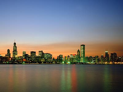 Chicago At Sunset Jigsaw Puzzle Jigzone Com