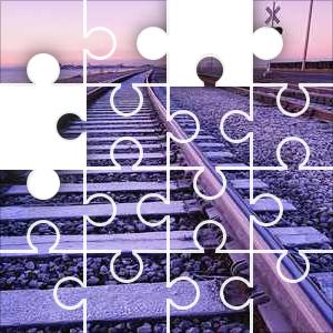 Frost On Train Tracks Jigsaw Puzzle Jigzone Com