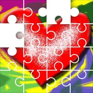 Heart Art Jigsaw Puzzle - JigZone com