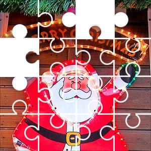 Merry Santa Jigsaw Puzzle - JigZone.com