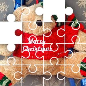 Merry Xmas Bear 154 Piece Classic Jigsaw Puzzle - JigZone.com