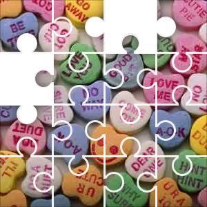 Valentine Candy Hearts Jigsaw Puzzle   JigZone.com